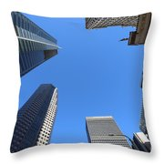 Architecture Tall Color Buildings Throw Pillow