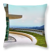 Architecture View Getty Los Angeles  Throw Pillow