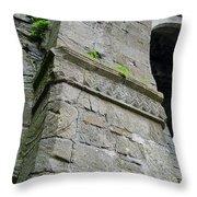 Architecural Detail At Irish Jerpoint Abbey County Kilkenny Ireland Throw Pillow