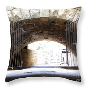 Archway And Gate Throw Pillow