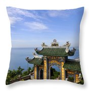 Archway By The Sea Throw Pillow