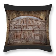 Archway Gate Throw Pillow
