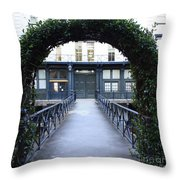 Archway On Factors Walk Throw Pillow