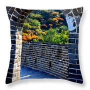 Archway To Great Wall Throw Pillow