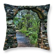 Archway To The Forest Throw Pillow