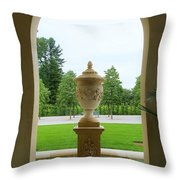 Archway Window To The Garden Throw Pillow