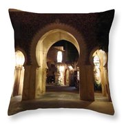 Archways At Night Throw Pillow