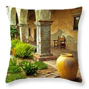 Archways At The Mission, Mission San Juan Capistrano, California Throw Pillow