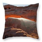 Arcing Light Throw Pillow
