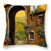 Arco Di Paese Throw Pillow by Guido Borelli