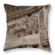 Arco Di Tito Relief Throw Pillow