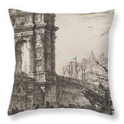 Arco Di Trajoano In Ancona Throw Pillow