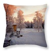 Arctic Homestead Throw Pillow