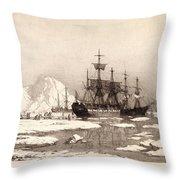 Arctic Ocean Throw Pillow