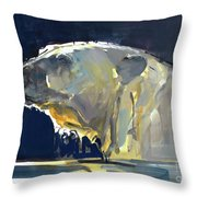 Arctic Silhouette Throw Pillow
