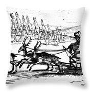 Arctic Sledding, C1618 Throw Pillow