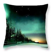 Arctic Wolf Throw Pillow
