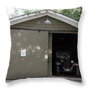 Ardenwood Historic Farm Garage Throw Pillow