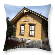 Ardenwood Historic Farm Railroad Station Throw Pillow