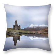 Ardvreck Castle Reflection Throw Pillow