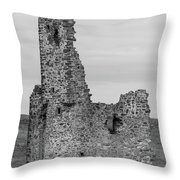 Ardvrek Castle 0945 Bw Throw Pillow