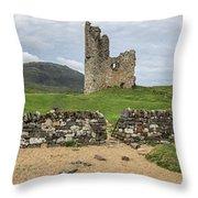 Ardvrek Castle Panorama 0842 Throw Pillow