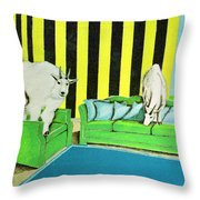 Are We Home Yet? Throw Pillow