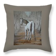 Are You Coming Throw Pillow
