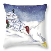 Are You In There Santa Throw Pillow