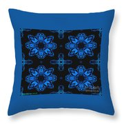 Area Blue Abstract Throw Pillow