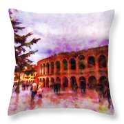 Arena Di Verona Throw Pillow