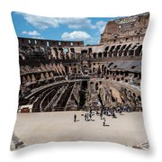 Arena Of Death And Glory Throw Pillow