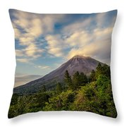 Arenal At The Sun's Last Touch Throw Pillow