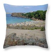 Arenal D'en Castell Throw Pillow