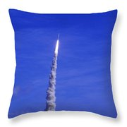Ares-1 Rocket Launch Throw Pillow