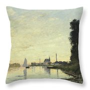 Argenteuil In Late Afternoon Throw Pillow