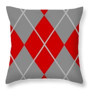 Argyle Diamond With Crisscross Lines In Paris Gray N02-p0126 Throw Pillow