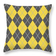 Argyle Diamond With Crisscross Lines In Pewter Gray N05-p0126 Throw Pillow