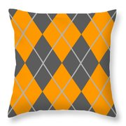 Argyle Diamond With Crisscross Lines In Pewter Gray T03-p0126 Throw Pillow