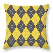 Argyle Diamond With Crisscross Lines In Pewter Gray T05-p0126 Throw Pillow