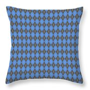 Argyle Diamond With Crisscross Lines In Pewter Gray T18-p0126 Throw Pillow