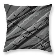 Aria Hotel Canopy Abstract Throw Pillow