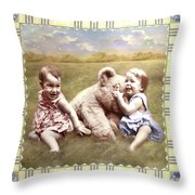 Arial And Emily Throw Pillow