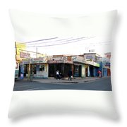 Arica Chile Street Corner Throw Pillow