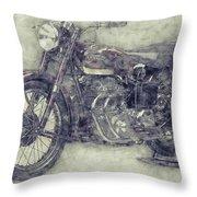 Ariel Square Four 1 - 1931 - Vintage Motorcycle Poster - Automotive Art Throw Pillow