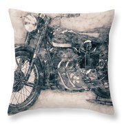 Ariel Square Four - 1931 - Vintage Motorcycle Poster - Automotive Art Throw Pillow