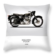 Ariel Square Four 1958 Throw Pillow