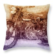 Ariel Square Four 2 - 1931 - Vintage Motorcycle Poster - Automotive Art Throw Pillow