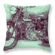 Ariel Square Four 3 - 1931 - Vintage Motorcycle Poster - Automotive Art Throw Pillow