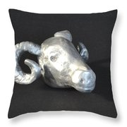 Aries - The Ram Throw Pillow